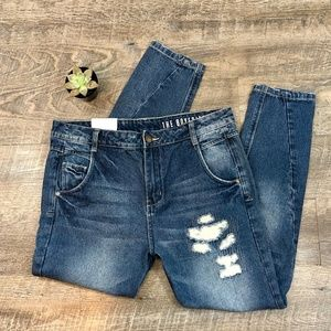 Cotton On Boyfriend Jeans - High Waist Distressed